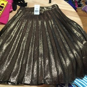 Kate spade ordinary has charm gold skirt 4 nwt